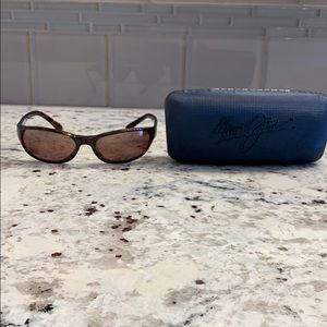 Rare Maui Jim Cyclone Sun Glasses Rose Lenses EUC